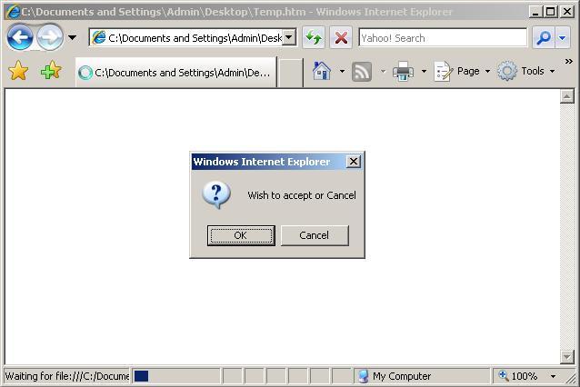 javascript alert confirm