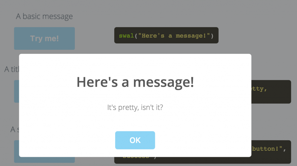 javascript alert message
